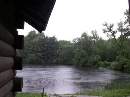 Rainy May morning at cabin